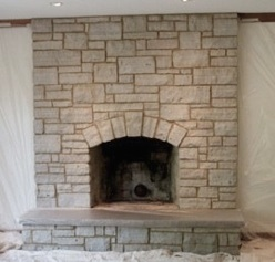 This fireplace stone was refinish to make it look more lively.  See what some artisitic staining stain did to makeover this stone brick fireplace.